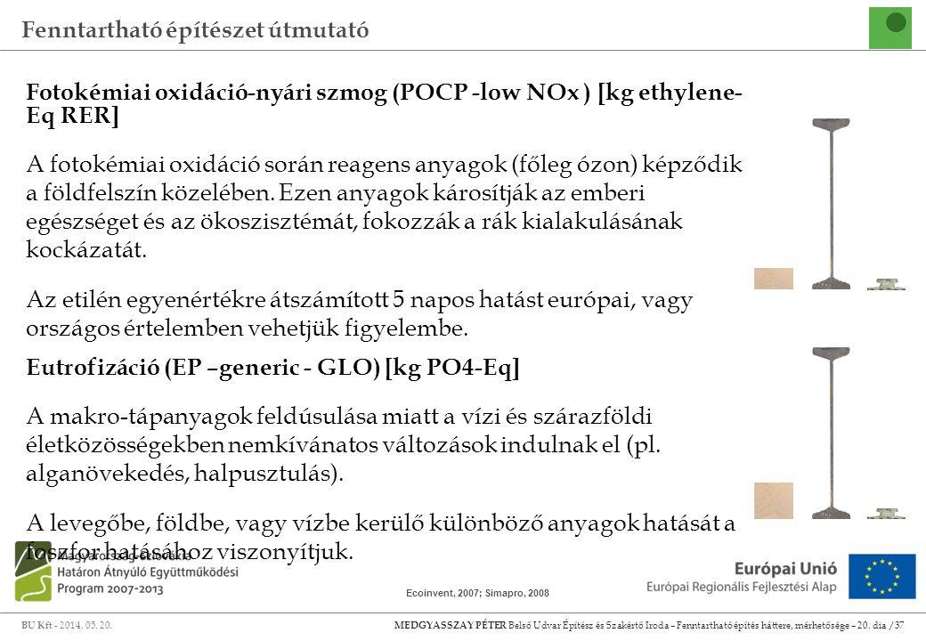 Fotokémiai oxidáció-nyári szmog (POCP -low NOx ) [kg ethylene- Eq RER]